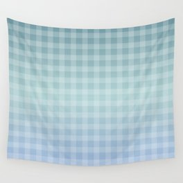 Checkered gingham stripes Wall Tapestry