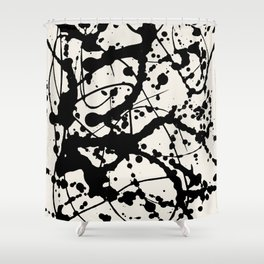 Cheers to Pollock Shower Curtain