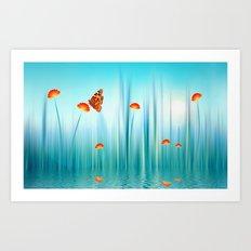 Spring Blue Art Print