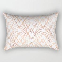 Golden beige pattern on white. Rectangular Pillow