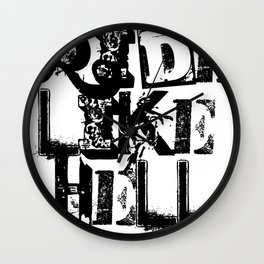 "TYRANT ""Ride Ransom"" Wall Clock"