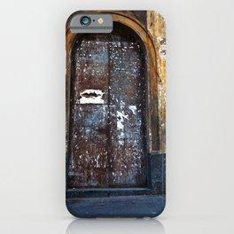 Old Sicilian door of Catania iPhone Case