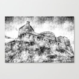 Edinburgh Castle Vintage Canvas Print