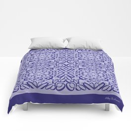 Courage of her Conviction Tiled - Violet Lavender Comforters