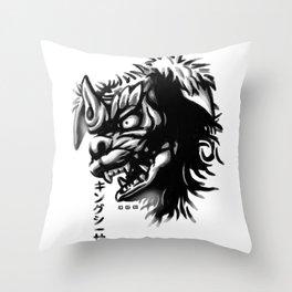 Waterbrushed Shisa Throw Pillow