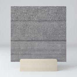 The Rosetta Stone // Charcoal Mini Art Print