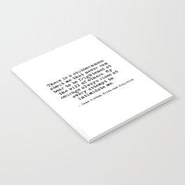 My courage always rises - Jane Austen Notebook