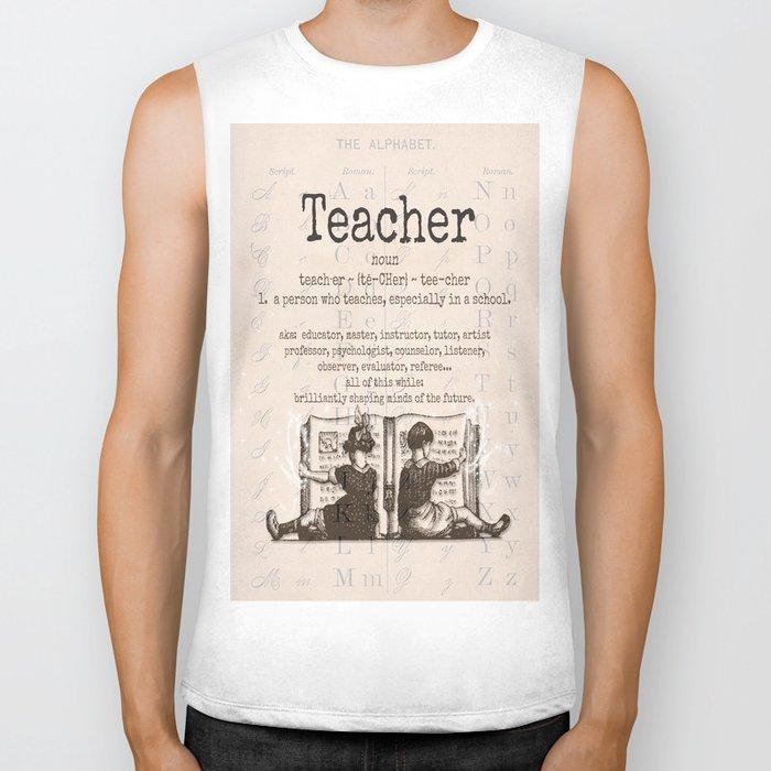Teacher Biker Tank