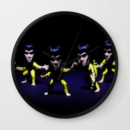 Kung Fu Fighter.  Wall Clock
