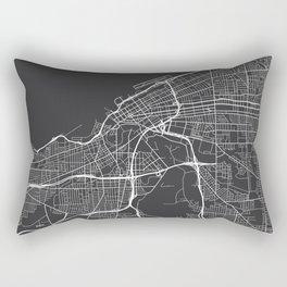 Cleveland Map, USA - Gray Rectangular Pillow