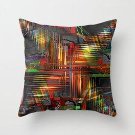 Bio-Digital Throw Pillow