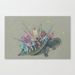 Oswald Cornelius Chim-Cham the Unbirthday Turtle Canvas Print