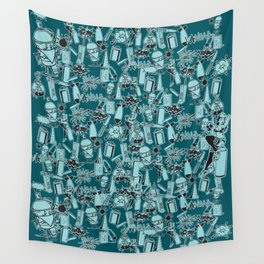 TEAL VANDAL CLASSICS Wall Tapestry