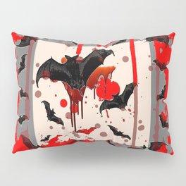 FREAKING HALLOWEEN BLOODY BAT PARTY Pillow Sham