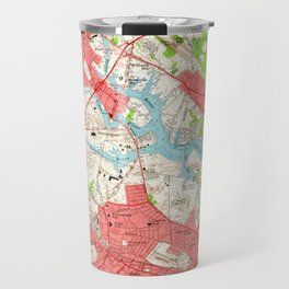 Vintage Map of Salem Massachusetts (1956) Travel Mug
