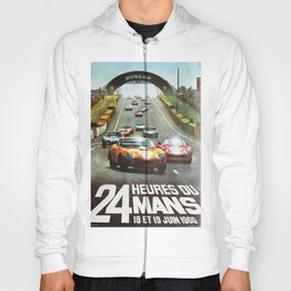 1966 Le Mans poster, Race poster, car poster, garage poster Hoody