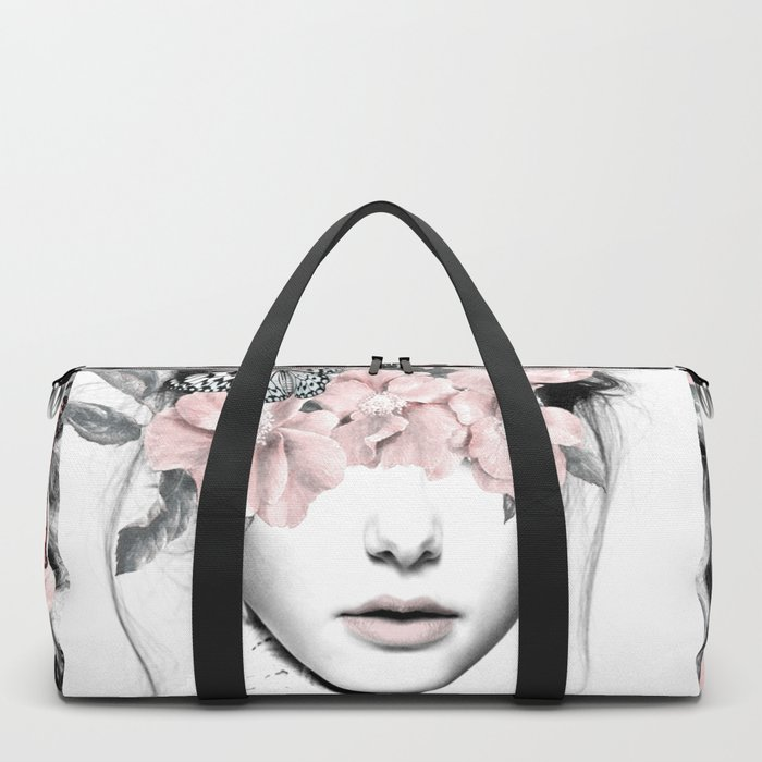 WOMAN WITH FLOWERS 10 Duffle Bag