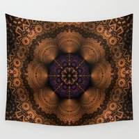 copper Wall Tapestries featuring Copper Fantasia by Robin Curtiss