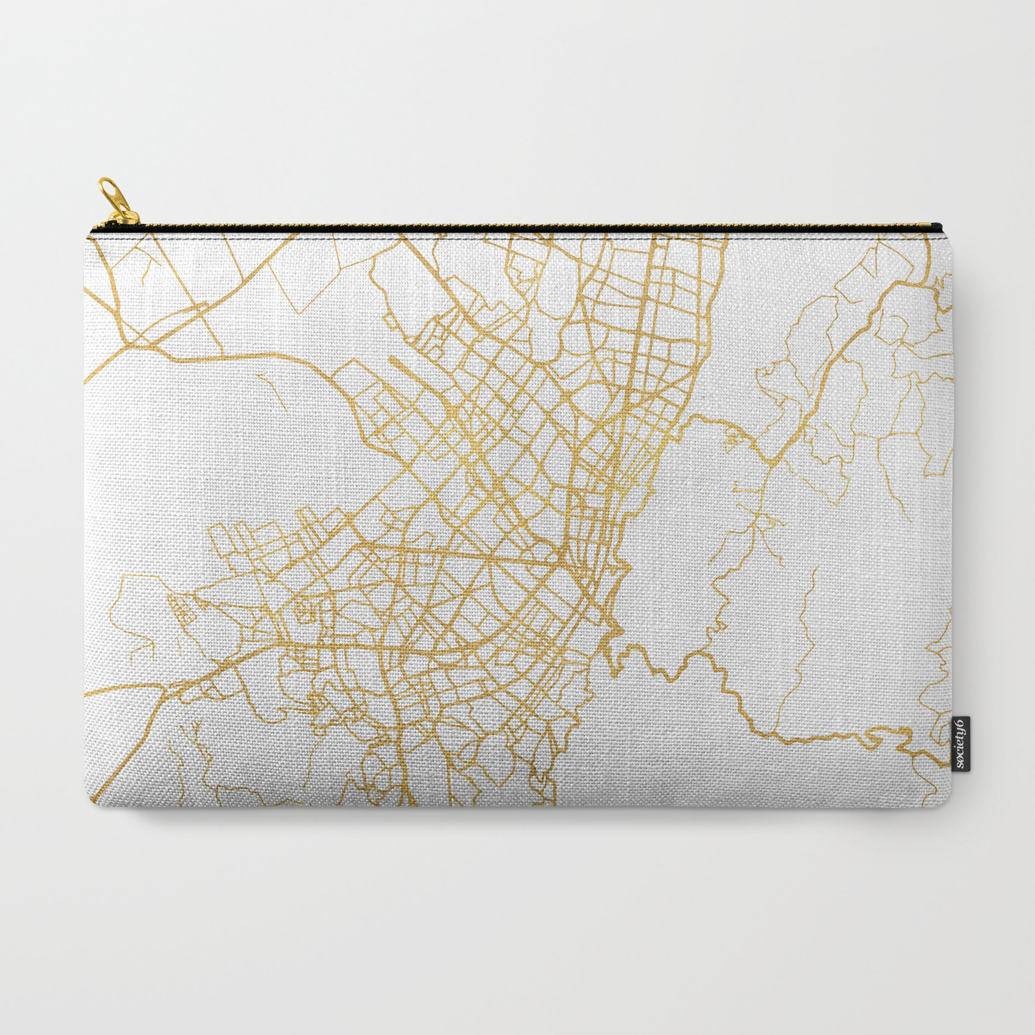 BOGOTA COLOMBIA CITY STREET MAP ART Carry-All Pouch