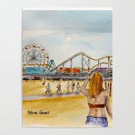 Santa Monica Pier Ferriswheel Poster