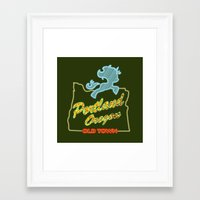 mlp Framed Art Prints featuring MLP PDX by Kimball Gray
