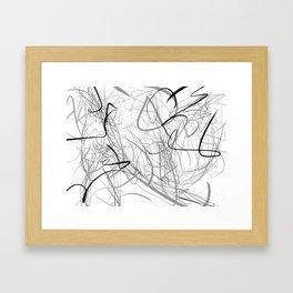 Crazy lines Framed Art Print