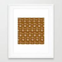 poop Framed Art Prints featuring Poop Emoji by Fabian Bross