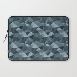 Abstract Geometrical Triangle Patterns 4 Behr Blueprint Blue S470-5 Laptop Sleeve