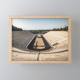Panoramic View of the Panathenaic Stadium Framed Mini Art Print