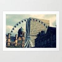 manchester Art Prints featuring Manchester by JTRumley