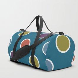 Geometric Candy Dot Circles In Brown Purple Blue Green Duffle Bag