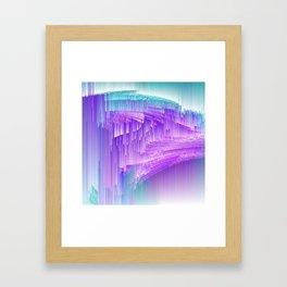 Flame - Pixel sort purple Framed Art Print