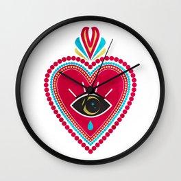 Ex Voto Sacred Heart Wall Clock