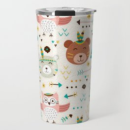 Boho Forest , Woodland Critters Travel Mug