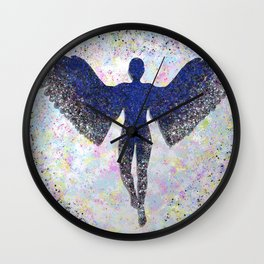 Rainbow Angel Explosion Wall Clock