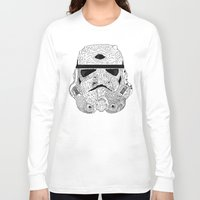 gore Long Sleeve T-shirts featuring Gore Trooper Blk/Wht by Josh Ln