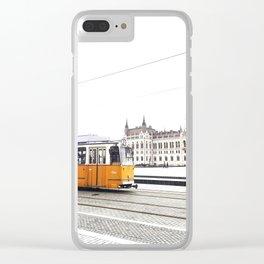A Tram in Budapest Clear iPhone Case