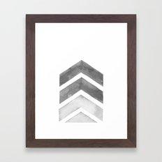 Grey Watercolor Chevron Art Framed Art Print