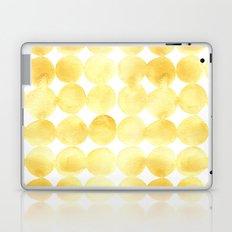Imperfect Geometry Yellow Circles Laptop & iPad Skin