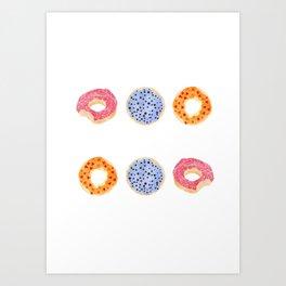 doughnut selection Art Print