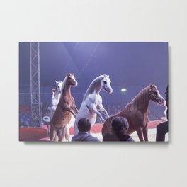 Circus Horses Metal Print