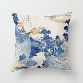 Utagawa Kuniyoshi's Asazawa Stream Remix Throw Pillow