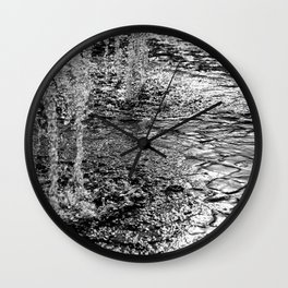Water Fountain Abstract Wall Clock
