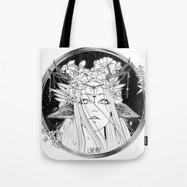 Deer Girl Fantasy Tote Bag
