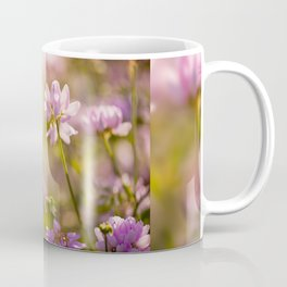 Wild pink Clover or Trifolium flowers Coffee Mug