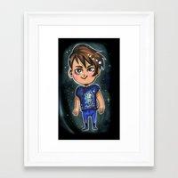 danisnotonfire Framed Art Prints featuring Danisnotonfire chibi print by Hollyistotallycool