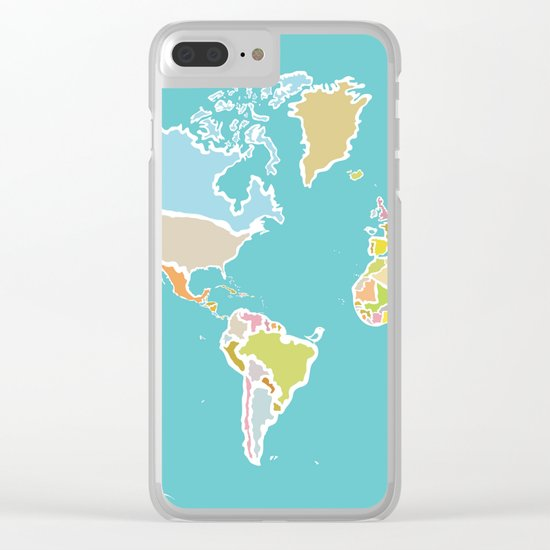 Map Print Clear iPhone Case