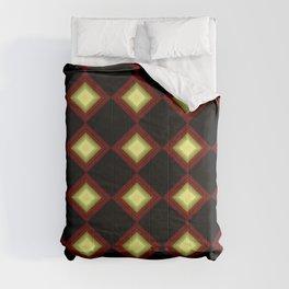 cuadrado brillante, triangulos Comforters
