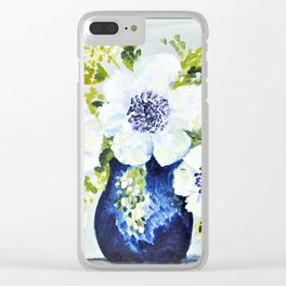 Anemones in vase Clear iPhone Case