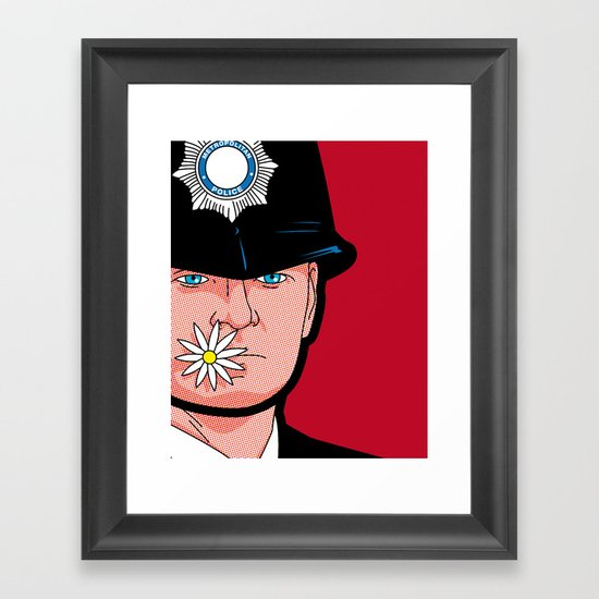 Pop Icon - Banksy Wink Framed Art Print